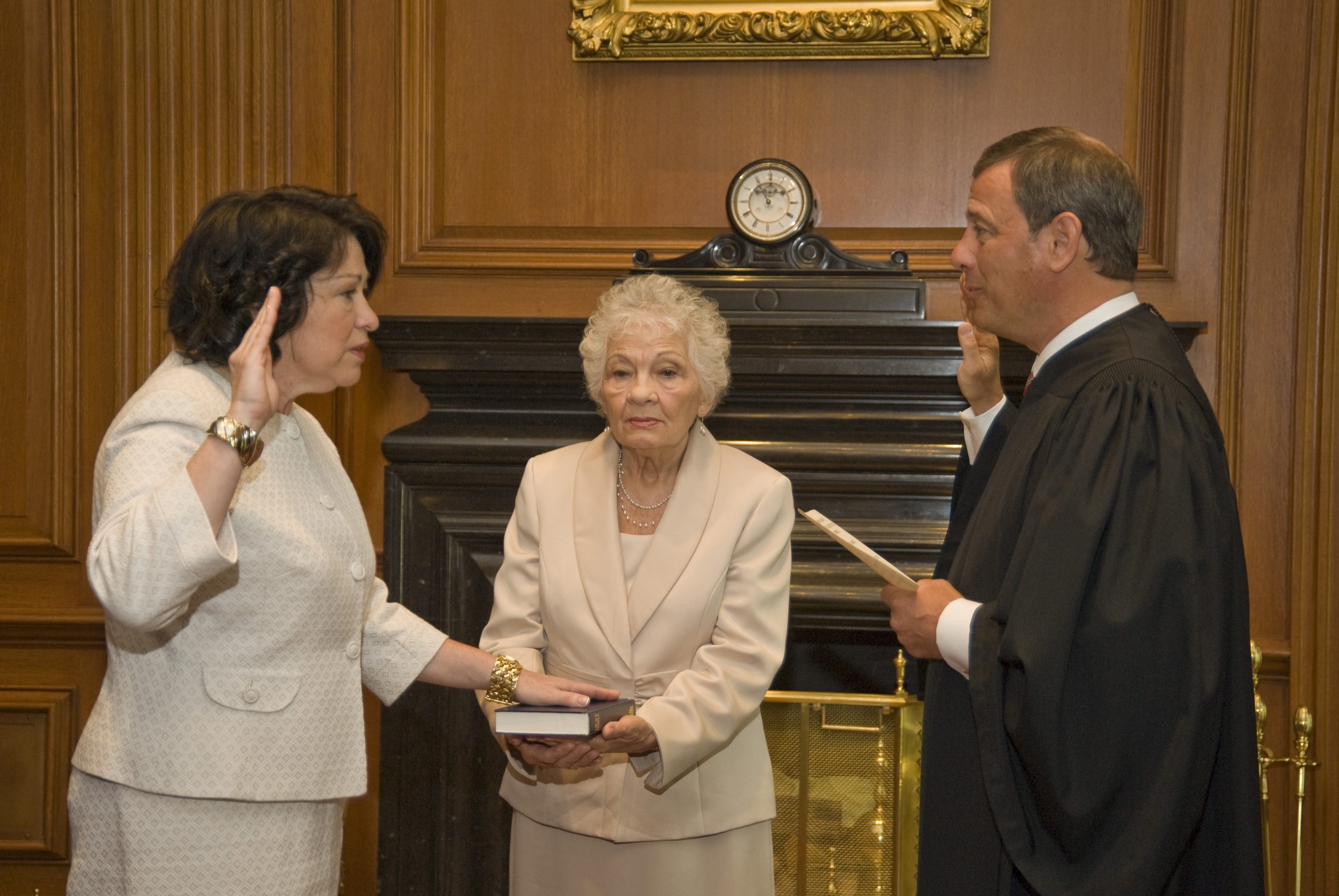 Image result for supreme court east conference room sotomayor swearing in
