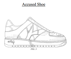 Accused shoe