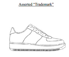 Trademarked shoe