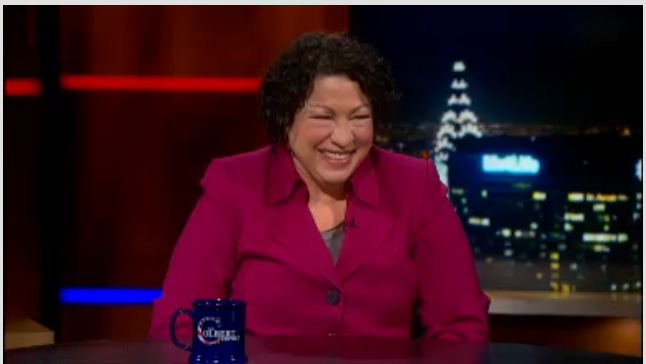 Sotomayor on Colbert