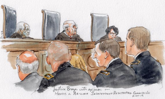 Justice Breyer with opinion in Harris v. Arizona Independent Redistricting Commission