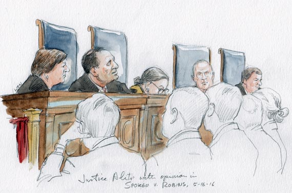 Justice Alito with opinion in Spokeo v. Robins