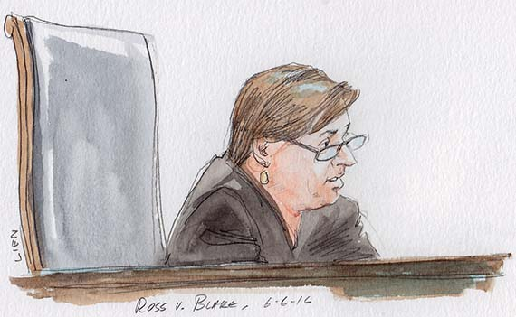 Justice Kagan with opinion in Ross v. Blake