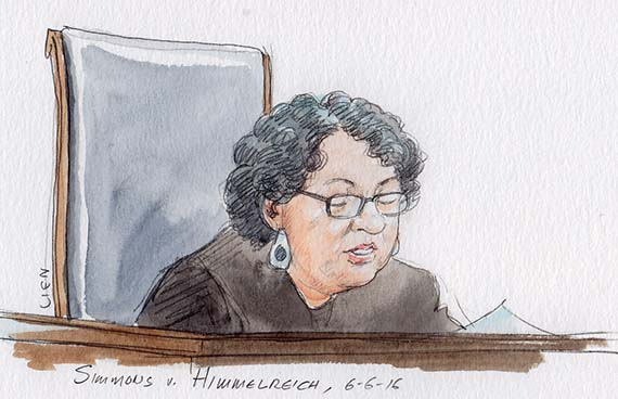 Justice Sotomayor with opinion in Simmons v. Himmelreich (Art Lien)
