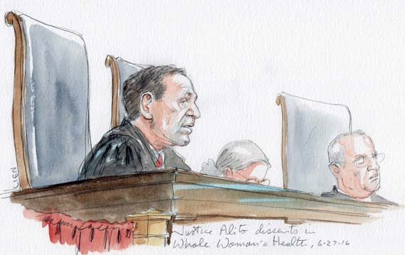 Justice Alito dissents in Whole Woman's Health