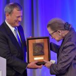 Justice Ginsburg receives Friendly Medal from American Law Institute