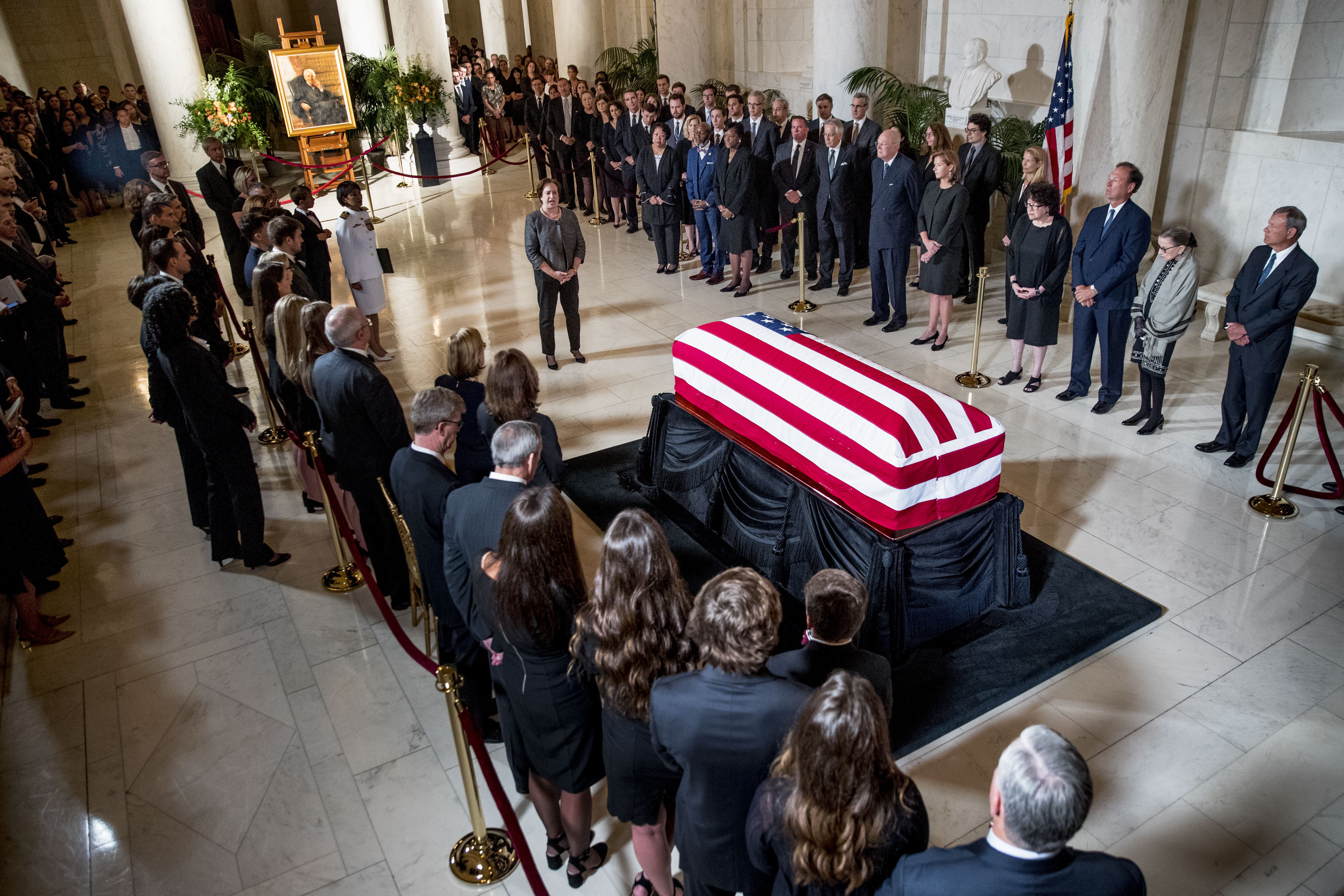 "A Supreme Court ceremony for Justice Stevens: ""A modest and"