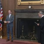 Barrett sworn in as newest justice as court weighs urgent election cases